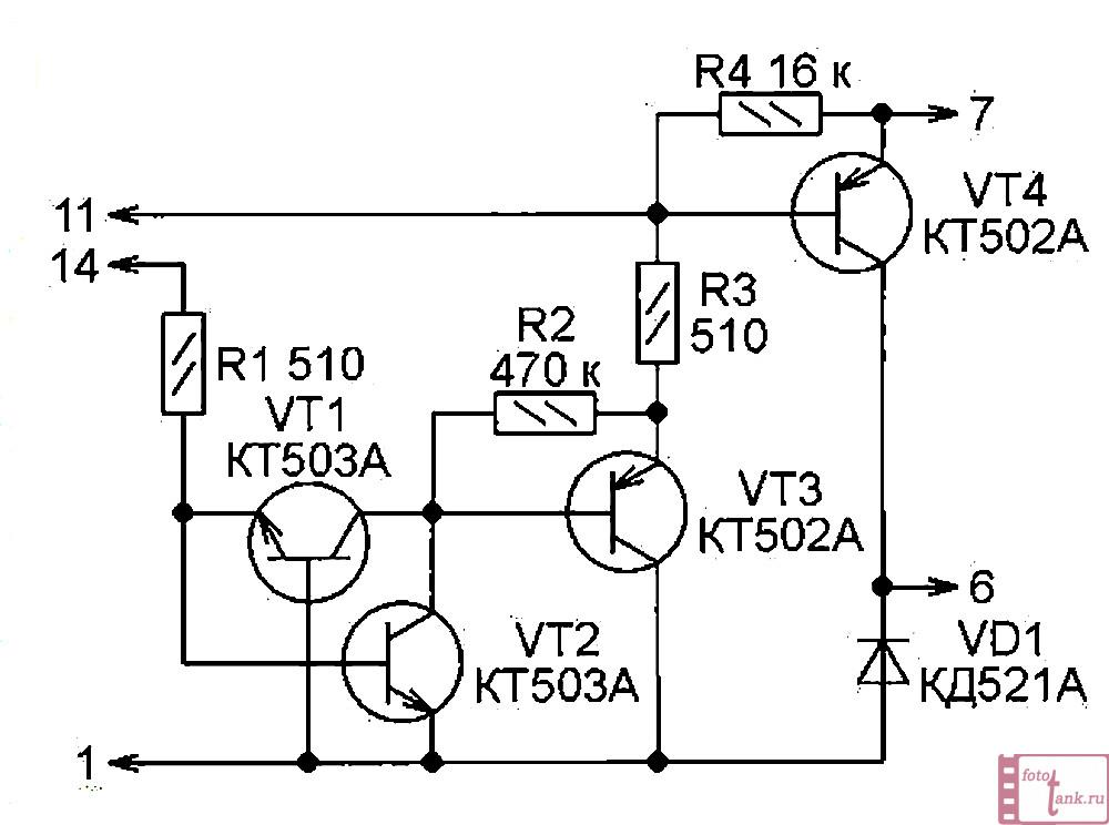 схема заменяющая микросборку КМП201уп1А